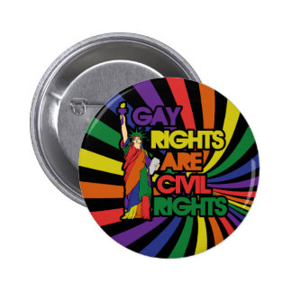 Gay rights are civil rights 6 cm round badge