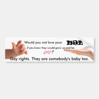 Gay rights bumper sticker