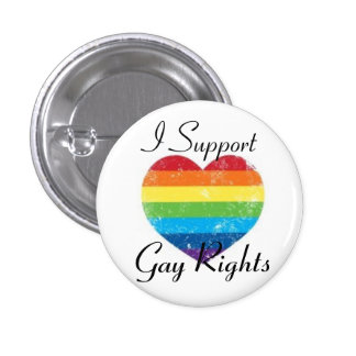 gay rights support pinback buttons