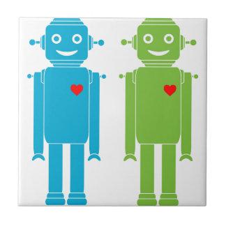 Gay Robots Ceramic Tile