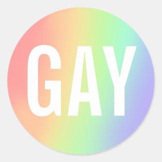gay round sticker