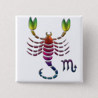 Gay Scorpio Button