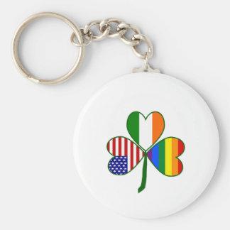 Gay Shamrock Keychains