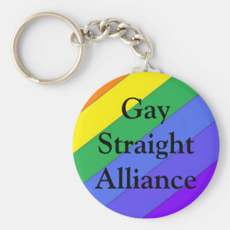 Gay Straight Alliance Key Ring