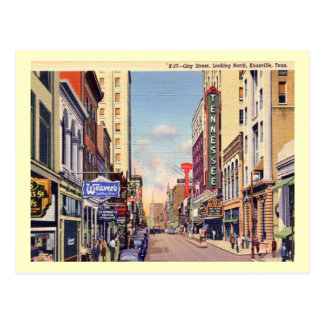 Gay Street, Knoxville, Tennessee Vintage Postcard