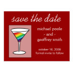 Gay-tini | Save the Date Post Cards