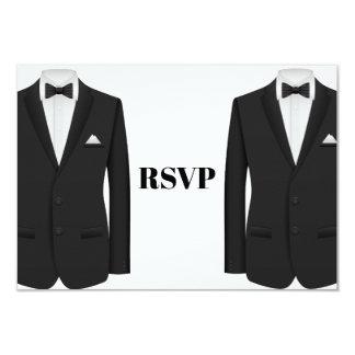 Gay Tuxedo Wedding Invitation RSVP