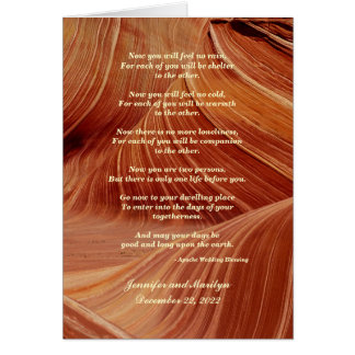 Gay Wedding, Apache Blessing Patterns in Sandstone Card