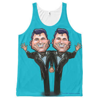 Gay Wedding Cake Toppers All-Over Print Tank Top