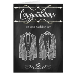 Gay Wedding Congratulations Card
