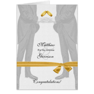 Gay Wedding Congratulations Two Grooms Vintage Card