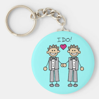 Gay Wedding Favors Basic Round Button Key Ring