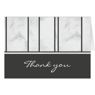 Gay Wedding Marble ı Thank you Card