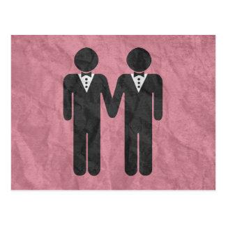 GAY WEDDING TOPPER MEN -.png Postcards