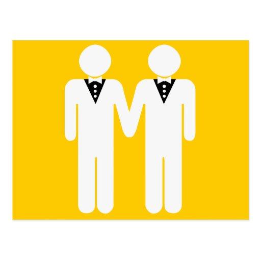 GAY WEDDING TOPPER POST CARD