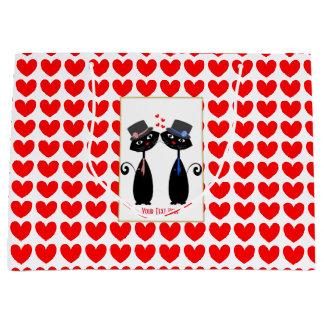 Gay Weddings Cool Cat Mr & Mr Grooms Large Gift Bag