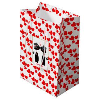 Gay Weddings Cool Cat Mr & Mr Grooms Medium Gift Bag