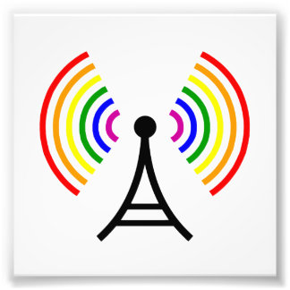 Gay WiFi Rainbow Signal Antenna Photo Print