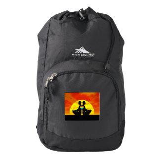 Gay yoga love - 3D render Backpack