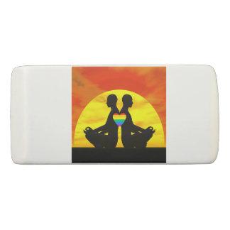 Gay yoga love - 3D render Eraser