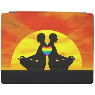 Gay yoga love - 3D render iPad Cover