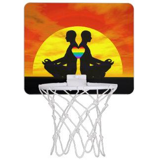 Gay yoga love - 3D render Mini Basketball Hoop