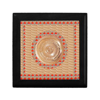 GAYATRI Mantra n OmMantra Symbol Embossed GOLD Gift Box
