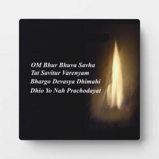 Gayatri Mantra Prayer Om / Aum Bhur Bhuvah, Plaque