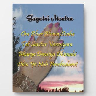 Gayatri Mantra Prayer Om Bhur Bhuvah, Plaque