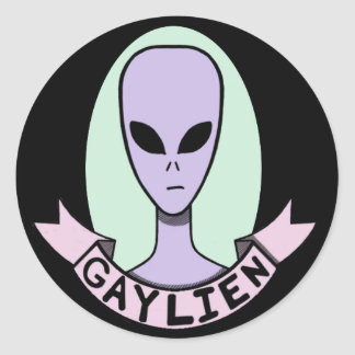 Gaylien [STICKER] Classic Round Sticker