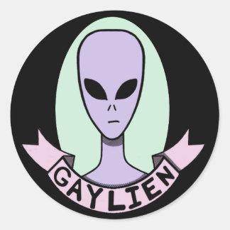 Gaylien [STICKER] Round Sticker