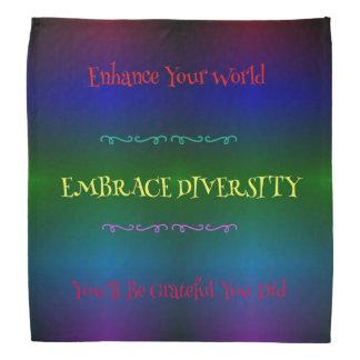 #Gaypride Modern Rainbow Embracing Diversity Bandana