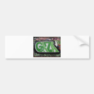 Gaza Graffiti Bumper Stickers