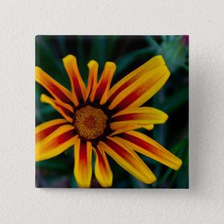 Gazania flower 15 cm square badge