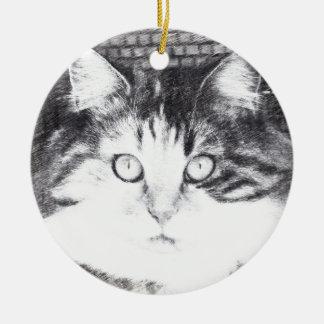 gaze ceramic ornament