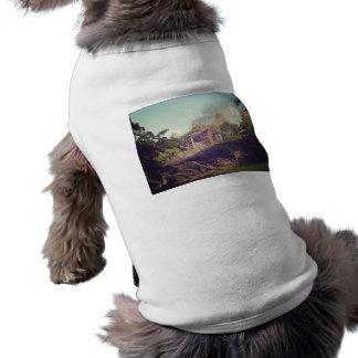 Gazebo, Central Park, New York City Sleeveless Dog Shirt