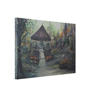 Gazebo in Spring Canvas Prints