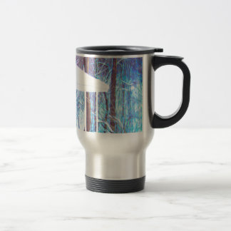Gazebo in winter travel mug