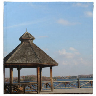 Gazebo over Lake Cloth Napkins