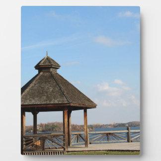 Gazebo over Lake Plaque