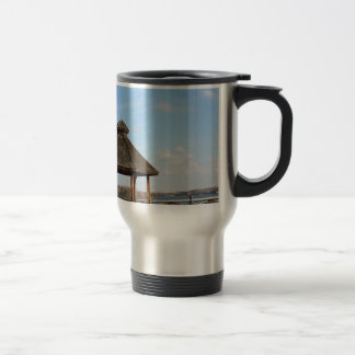 Gazebo over Lake Travel Mug
