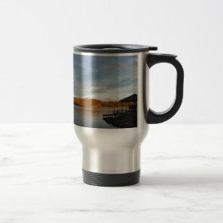 Gazebo sunset at Lake Arrowhead Coffee Mugs