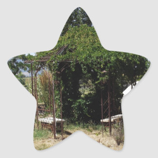 Gazebo with Vines Star Sticker