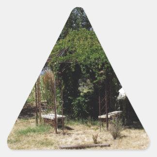 Gazebo with Vines Triangle Sticker