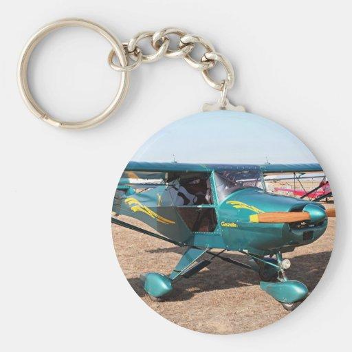 Gazelle aircraft key chain