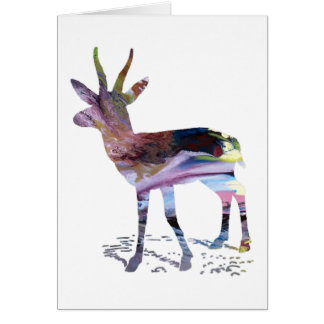 Gazelle art card