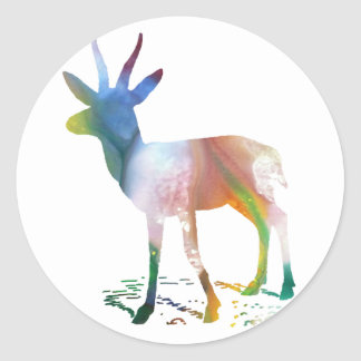 Gazelle art classic round sticker