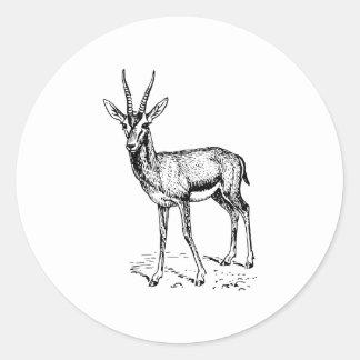 Gazelle Classic Round Sticker