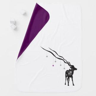 Gazelle with Stars Baby Blanket