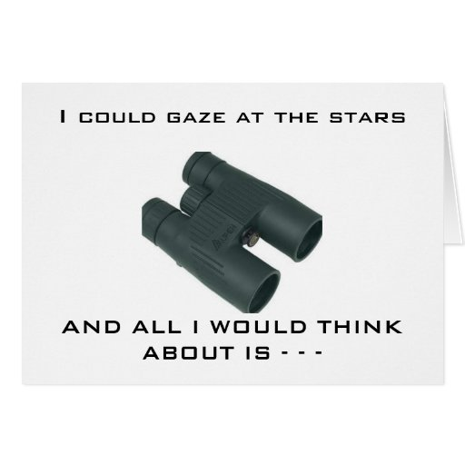 GAZING AT STARS-THINKING OF YOU! GREETING CARD